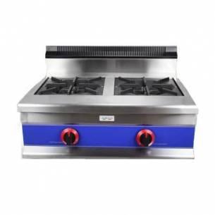 Cocina gas industrial 2 fuegos serie 600 CG2FH