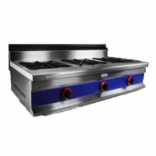 Cocina gas industrial 3 fuegos serie 600 CG3F