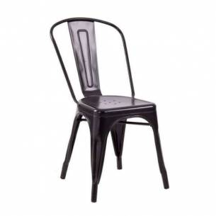 Silla vintage metálica Tolix - Color negro
