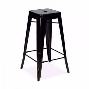 Taburete alto vintage metálica Tolix - Color negro-Z052TABURETETOLIX-NEGRO