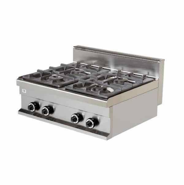 Cocina de gas industrial sobremesa c4 700s 4 fuegos l nea for Cocina 6 fuegos industrial