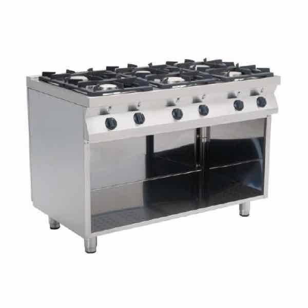 Cocina de gas industrial econ mica casta f7 kug4ba con 4 for Cocina 6 fuegos industrial
