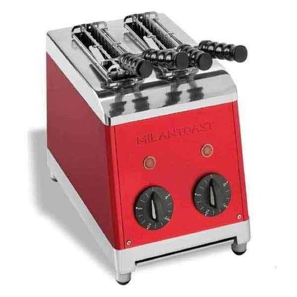 Tostador de pinzas clásico vintage aluminio con color Milantoast - Rojo