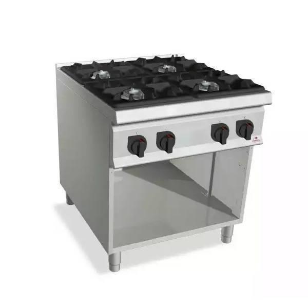 Cocina de gas industrial sobremesa 4 fuegos casta e7 for Cocina 6 fuegos industrial
