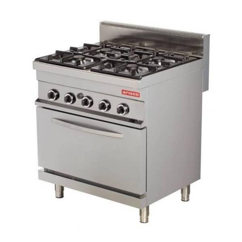 Cocina gas industrial 4 fuegos con horno gas gn1 1 arisco - Cocina de gas precios ...