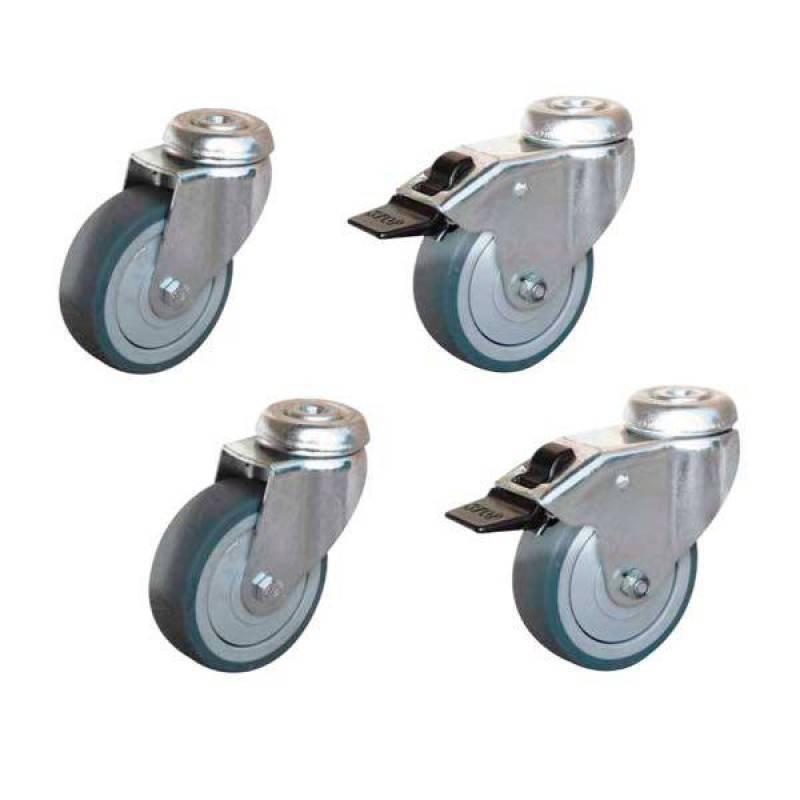 conjunto 4 ruedas para mesa de acero inoxidable serie eco | hostelbar - Ruedas Para Mesa