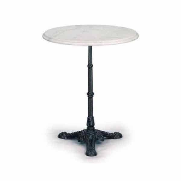 Mesa de m rmol redonda 60 cm con pie de hierro hostelbar - Pies de mesa de marmol ...