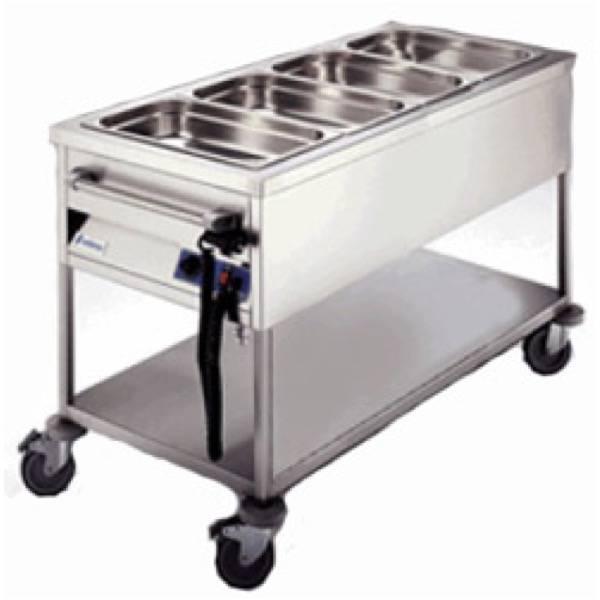 Carro ba o mar a 4 gn 1 1 cbm 411 edenox hostelbar for Carro frutero cocina